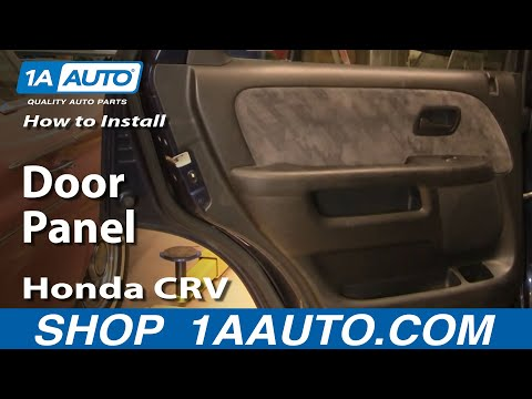 How To Install Replace Rear Door Panel Honda CR-V 02-06 1AAuto.com