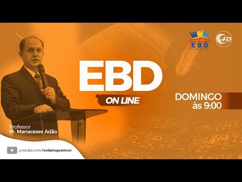 Escola Bíblica Dominical - ONLINE - 26/07/2020