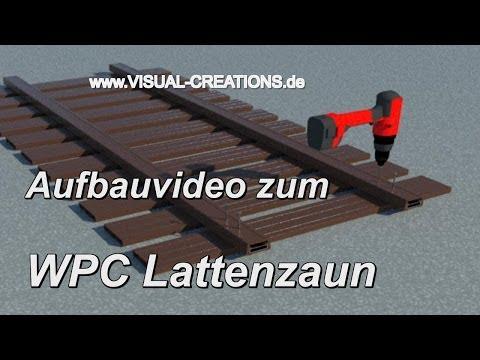 Aufbau Video WPC Lattenzaun Zaunsystem Gartenzaun Zierzaun Zaun Bretterzaun