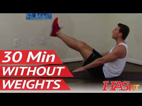 30 Min Workout without Weights – HASfit Exercises without Weights – Work Out without Equipment