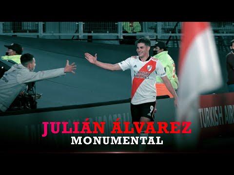 Los 3 goles de Julián Álvarez a San Lorenzo  [CÁMARA EXCLUSIVA]