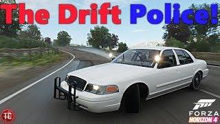 Forza Horizon 4: THE DRIFT POLICE! (Crown Vic Drift Build)