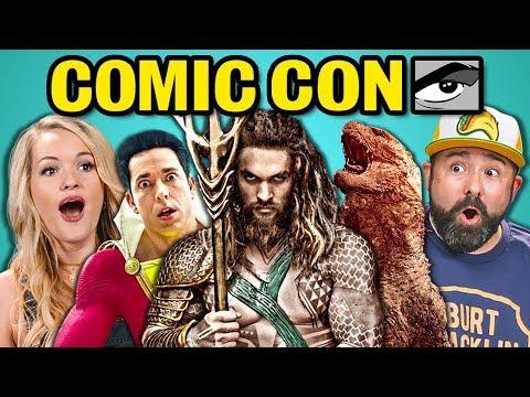 ADULTS REACT TO COMIC CON TRAILERS 2018 (Aquaman, Shazam!, Glass)