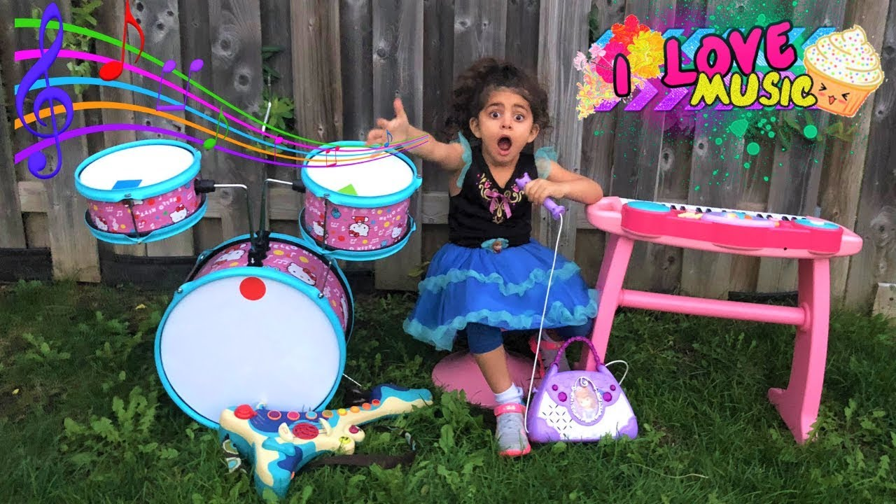Sally Pretend Play w/ Guitar Music Toys & Sing Kids Songs Nursery Rhymes