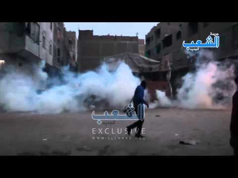 اعتداء مليشيات الداخلية بالرصاص الحي وقنابل الغاز على المتظاهرين بالوراق