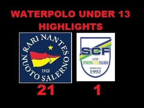 R.N SALERNO Vs FLEGREO WATERPOLO UNDER 13 RISULTATO FINALE 21/1 SINTESI CON GOALS E HIGHLIGHTS