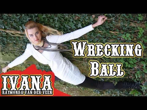 """Wrecking Ball"" – Miley Cyrus (Cover Official Music Video by Ivana & Mark) + Lyrics"