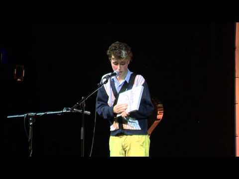 Adam Todd at the Chortle Student Comedy Award 2013 final