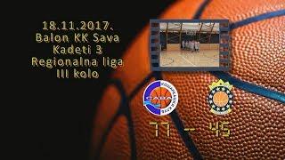 kk sava3 kk allstar2 77 45 (kadeti 3, 18 11 2017 ) košarkaški klub sava