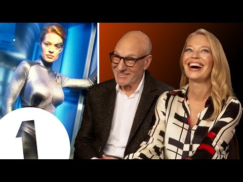 """A catsuit?! How provocative!"" Picard's Sir Patrick Stewart on Jeri Ryan's Star Trek uniform"