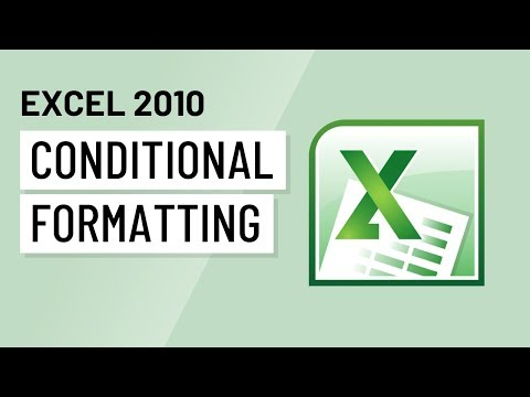 Excel 2010: Conditional Formatting