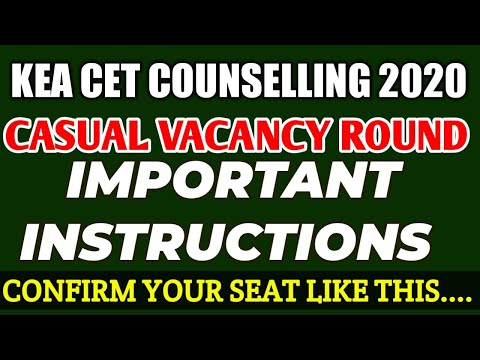 CASUAL VACANCY ROUND - IMPORTANT INSTRUCTIONS // CONFIRM YOUR ALLOTTED SEAT LIKE THIS..!!!