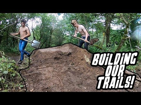 Building Our NEW MTB TRAILS & SHOOTING Guns!