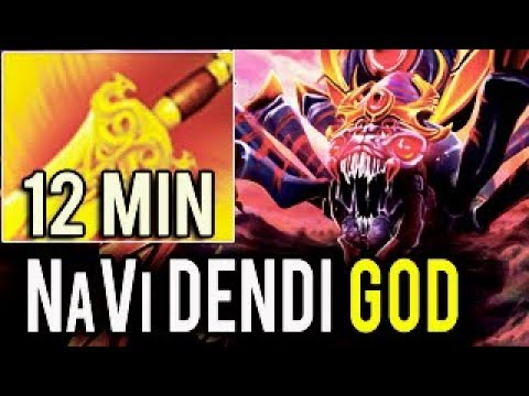 NaVi Dendi WTF 12 Min Radiance + Gold Bonus Tactical Broodmother Jungle Radiant 7.06f Meta Dota 2