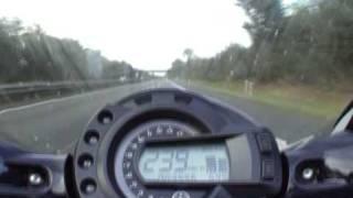 10. Yamaha FZ6 Fazer Model 2005 - my current top speed sitting upright