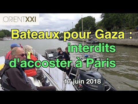 2 flottilles pour Gaza accostées dimanche sur les quais de Seine