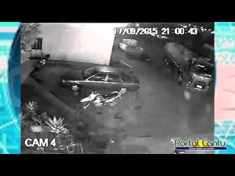 Polícia divulga imagens do ladrão que assalto o Posto Pegoraro em Guaraniaçu