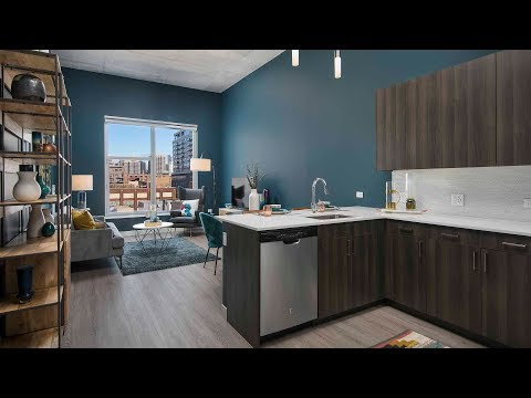 Tour a one-bedroom model at Spoke in transit-friendly River West