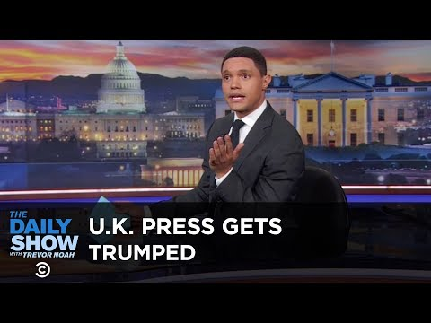 British Journalists Get Trumped for the First Time - Between the Scenes   The Daily Show (видео)