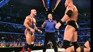 Brock Lesnar Vs. Big Show Vs. Kurt Angle   Vengeance 2003   Highlights HD