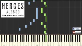 Alesso - HEROES (Piano Tutorial + SHEETS)