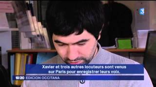 L'occitan dans la collection sans peine et son auteur Nicolas Quint à l'honneur sur France 3 Midi-Pyrénées. En occitan, sous-titré en français.