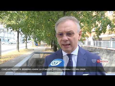 CONFARTIGIANATO, BONOMO «SARA' LA STAGIONE DELL'ECONOMIA» | 22/09/2020