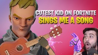 Cutest Kid On Fortnite Sings Me A Song (& Makes My Wife Cry) (Fortnite Battle Royale)