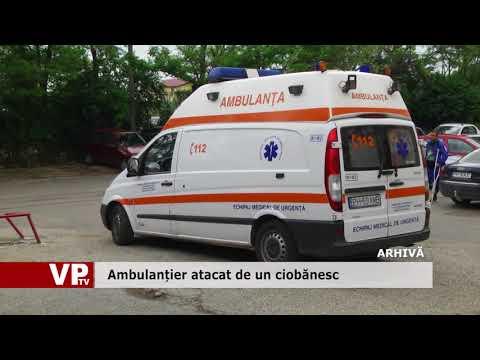 Ambulanțier atacat de un ciobănesc