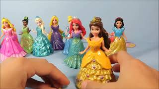 NEW Disney MagicClip Frozen Elsa Snow White Sleeping Beauty Belle Princess Tiana Ariel Dolls