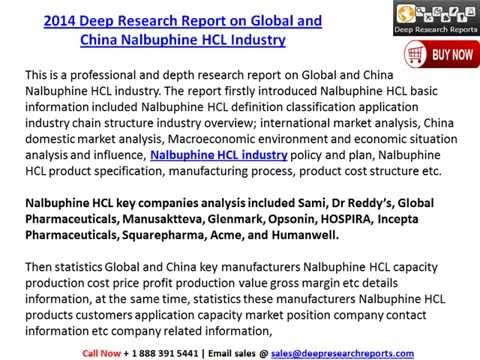 Global and China Nalbuphine HCL Industry Research Report, 2014