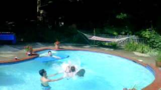 Zagha Flip - Gainer into pool chair
