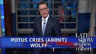 Video Stephen Bites Into The Juicy New Trump Book MP3, 3GP, MP4, WEBM, AVI, FLV Oktober 2018