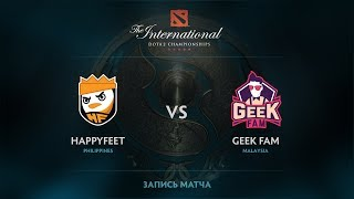 HappyFeet vs Geek Fam, The International 2017 SEA Qualifier