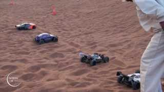 RC ELECTRIC CARS RACING AND HILL CLIMBING - ARABIAN DUNES