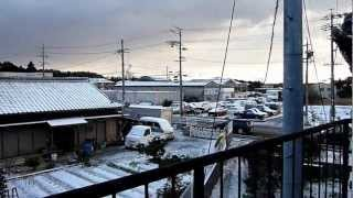 Kameyama-shi Japan  city photo : Neve em Kameyama-shi.wmv