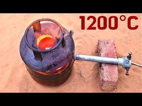 Making Metal Melting Furnace at Home | गैस सिलेंडर से बनाई भट्टी | Home Made Metal Foundary |