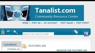 Tanalist.com -Ethiopian Free Classfied Ad Website