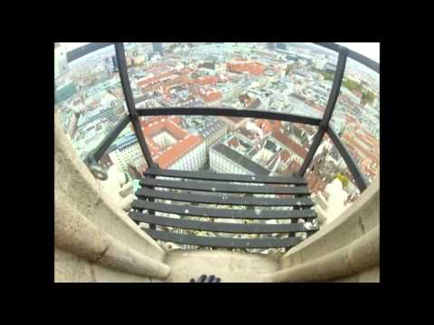Klettern auf den Stephansdom in Wien