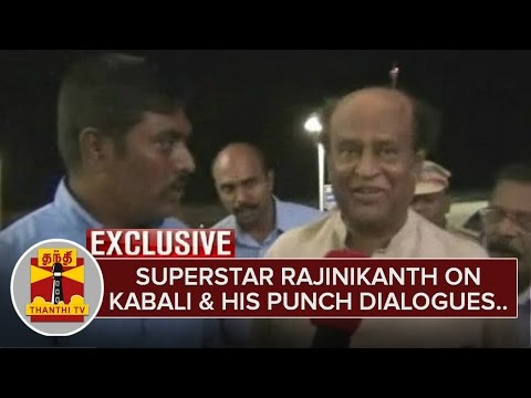 Exclusive--Superstar-Rajinikanth-on-Kabali-and-his-Punch-Dialogues-ThanthI-TV
