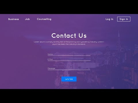 , title : 'Contact Us Page Design | HTML & CSS'