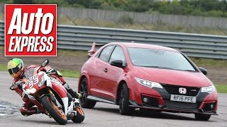 3. Honda Civic Type R vs CBR1000RR Fireblade SP - car vs bike track battle