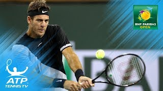 Federer, Cilic, Del Potro through to third round | Indian Wells 2018 Highlights Day 4