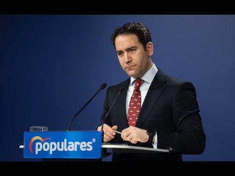 Declaraciones de Teodoro García Egea ante los medi...