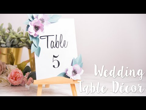 DIY: Tropical Lei Table Numbers - Sizzix