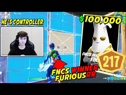 FNCS WINNER Furious Shows How He DOMINATED The Finals To Get #1 Place & WON $100,000 On Controller!