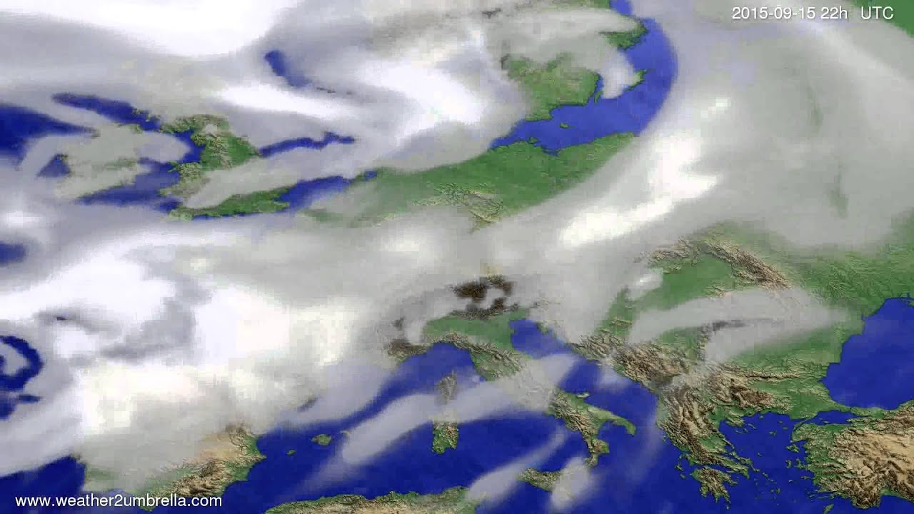 Cloud forecast Europe 2015-09-13