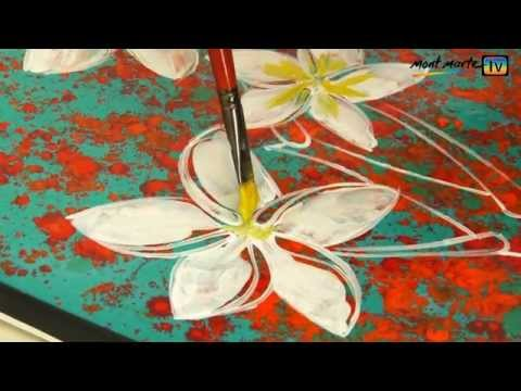 flower painting - http://montmarte.net/mont_marte_tv?channel_id=24_15&video_id=135 http://montmarte.net/products?product_id=1465 General Usage Mont Marte Dimension acrylic is ...