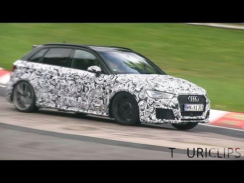 Audi RS3 Erlkönig beim Soundcheck
