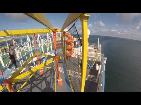 BREAKAWAY - Norwegian Breakaway Ropes Course (part 1 of 3), taken with GoPro action camera while walking throught the ropes course see also: parts 2 http://youtu.be/KW6M...
